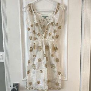 Letarte Women's White Sleeveless Tunic Dress